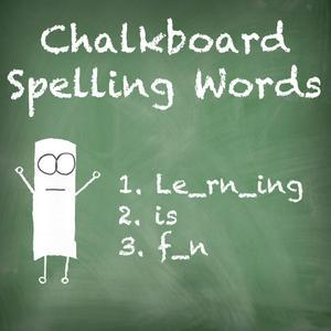 play Chalkboard Spelling Words