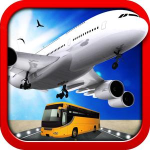 3D Airport Bus And Air-Plane Simulator - Real Driving, Racing & Parking School And Car Test Drive Game