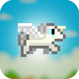 play Adventure Of Flappy Unicorn Bird Flyer - Free 8-Bit Pixel Game