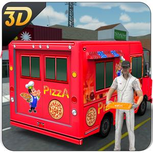 play Pizza Delivery Van 3D – City Food Truck Driver Simulator Game