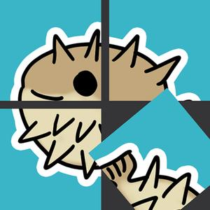 play Rotate Porcupine Fish Puzzle
