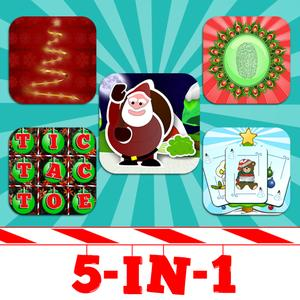 play 5-In-1 Christmas App Bundle - Hangman, Tic Tac Toe, Farting Santa, Fingerprint Scanner