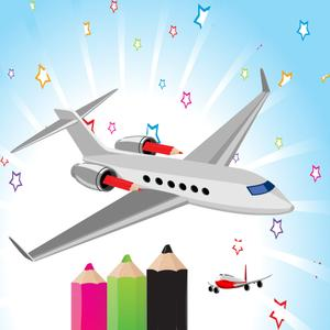 play Airplane Coloring Book