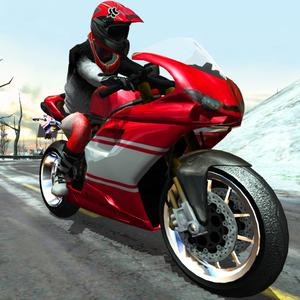 play Bike Rider - Frozen Highway Rally Race Free