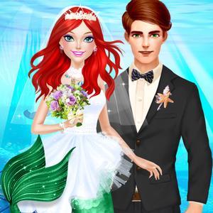 play Mermaid Princess Wedding Salon - Little Ocean Bride