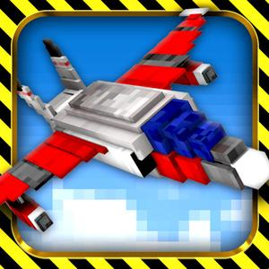 play Sky Wars - Mine Best Cubical Airplane Combat Game