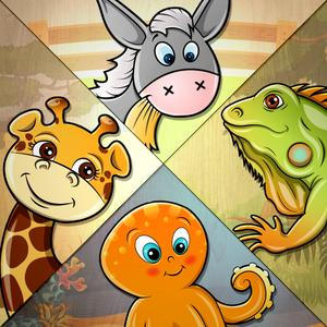 play 82 Kids Puzzles Learn Animals - Cute Puzzle With Animal Names, Sounds, Real Pictures, Videos And Fun Facts