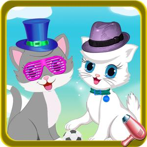 play Fluffy Kitty Cat Pet Dress Up Salon