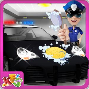 play Police Car Wash – Cleanup Messy Vehicle In This Auto Cleaning Game