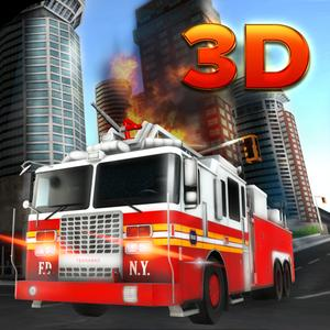 play 911 Fire Truck Rescue 3D - Drive The Emergency Fire Brigade Vehicle & Do The Rescue Missions With Fire Fighter Team