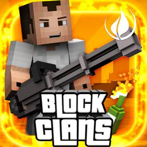 play Block Clans - 3D Pixel Survival Fps & Tps Gun Shooter Game