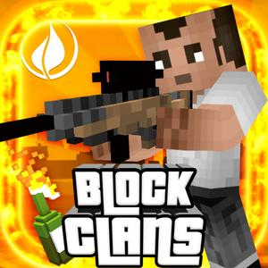 play Block Clans - Survival Pixel World Gun In 3D Block