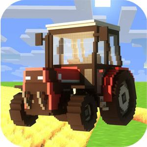 play Blocky Farming Simulator Pro 2015 - Pocket Edition Tractor, Harvester, Truck Mini Game