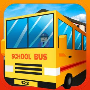 play Blocky Urban City Schoolbus 3D
