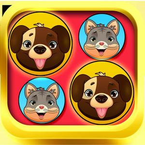 play Cats And Dogs Connect-4 Game