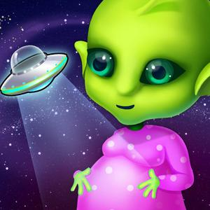 play Mommy'S Cute Newborn Alien Baby - Space Family Love & Care