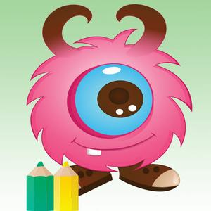 play Monster Coloring Book - Finger Painting Fantasy