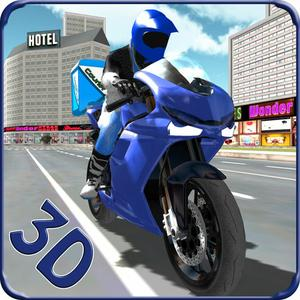 play Postman Courier Moto Bike Rider Delivery Boy Simulator