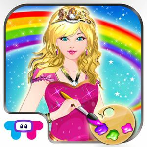 play Princess Coloring Book - All In 1 Draw, Paint And Color Hd