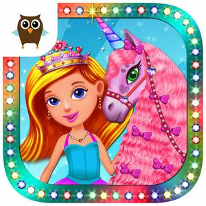 play Princess Girls Club Tea Party, Dress Up Fun And Unicorn Care Time - Kids Game