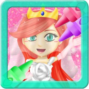 play Princess Wedding Coloring World - My Paint, Color And Draw Frozen Fairy Tail Magic For Girls Free