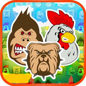 play Angry Animals Match-3 Free Game