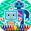 play Coloring Book Robots
