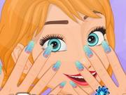 Frozen Anna Nail Style game