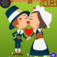 play Thanksgiving Farm Kissing