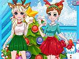 play Frozen Sisters Christmas Party