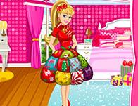 Barbies Christmas Patchwork Dress game