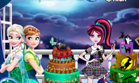 play Frozen And Monster High Cake Decor