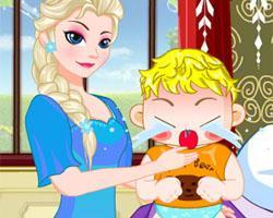 play Elsa Baby Flu Treatment