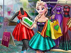 play Elsa Realife Shopping