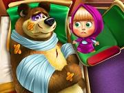 play Masha And The Bear Injured