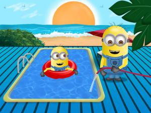 Minions Swimming Pool Clean Up Free Online Games