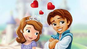 play Sofia The First Kissing Game