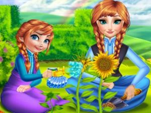 Anna Mommy Gardening game
