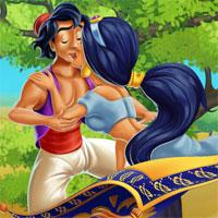 play Jasmine And Aladdin Kissing