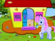 play Little Pony House Cleaning