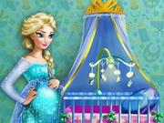 Pregnant Elsa Baby Room Deco game