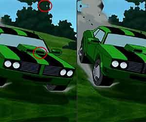 play Ben 10 Car Differences