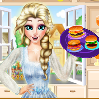 Princess Elsa Burger Shop game
