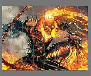 Ghost Rider Jigsaw game