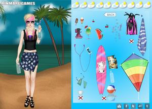 play Mega Summer Dress Up Game