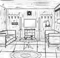 B And W House Escape game