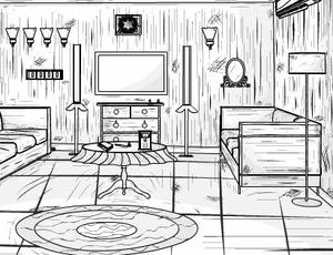 play Eight B And W House Escape