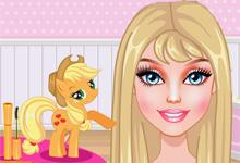 play Barbie My Little Pony Makeover