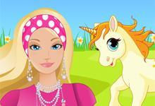 play Caring Barbie Unicorn