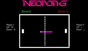 Neopong game